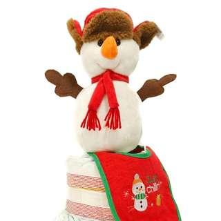 Little Snowman Diaper Cake Centerpiece