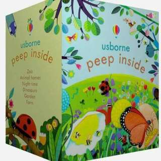 🔹Cheapest BNIB🔹Usborne Peep Inside Bookset (Promotion from now till 31/12/2017)