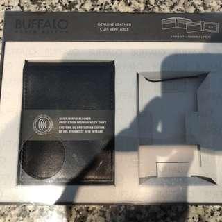 Buffalo Black Leather Wallet BNIP