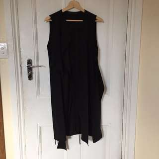 Zara Black Layered Vest