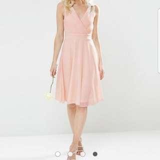 TFNC Petite WEDDING Prom Midi Dress With Embellished Shoulders