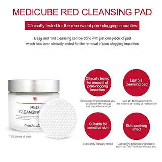 Medicube red cleansing pad