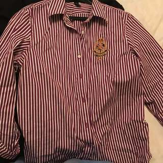Polo Ralph Lauren shirt purple stripes