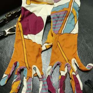 Hermes Silk Gloves