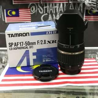 TAMRON SP 17-50MM F/2.8 DI II XR LENA FOR NIKON DSLR CAMERA