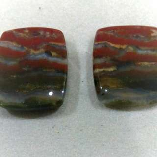 Moss Agate (pair) 14cts