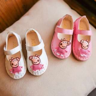 2017新款女童粉紅豬鞋兒童皮鞋韓版軟底寶寶豆豆鞋公主鞋潮