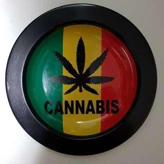 Cannabis design metal plate