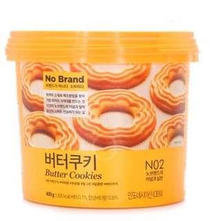 🦄韓國 NO BRAND 桶裝奶油曲奇餅乾 400g