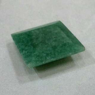 Aventurine faceted square 31.3cts