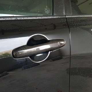 Civic FD1 FD2 FD4 FD2R carbon Fiber Door Handle Cover Full Set. Bnib. Js Racing Spoon Feels Mugen Honda Civic Type R.