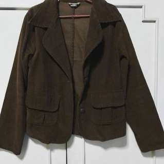 BAYO chocolate brown corduroy coat/blazer