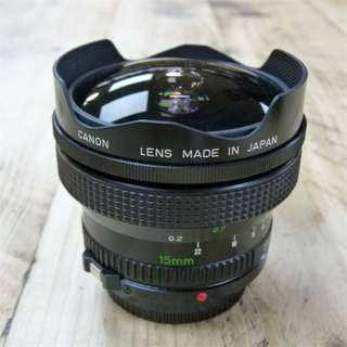Canon fd 15mm 2.8 fisheye lens new fd wide angle film or digital