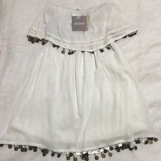 BRAND NEW WITH TAGS WHITE MISS GUIDED SUMMER DRESS