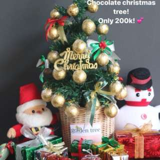 POHON NATAL / CHRISTMAS TREE CHOCOLATE BY GOLDEN TREE