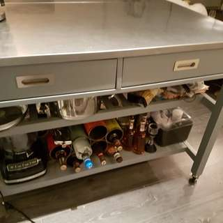 Kitchen island from Crate & Barrel