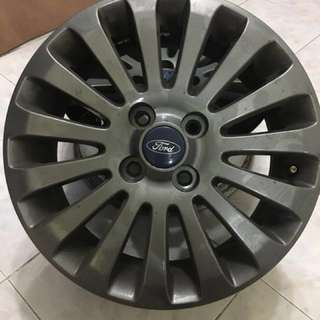 Ford fiesta Rim15 original silver colour Pcd4x100
