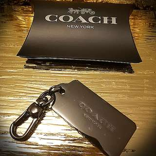 COACH METAL KEYRING