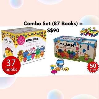 🔹Cheapest BNIB🔹Mr Men & Little Miss Combo Set 87 Books (Promotion from now till 31/12/2017)