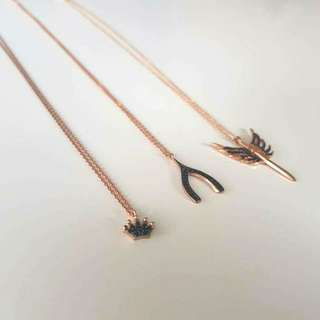 Dainty Necklaces -18k Rose Gold Plated