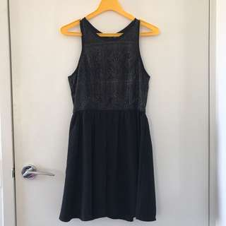 Valley Girl black and gold Dress