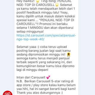 4th feedback from Carousell