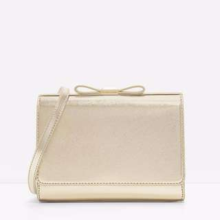 Authentic Charles and Keith Bow Detail Clutch