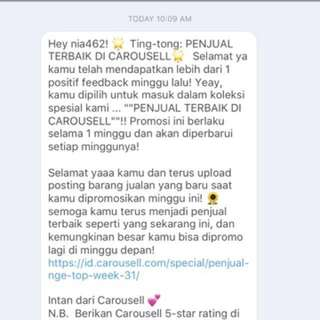 1th feedback from carousell