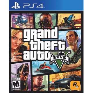 PS4 GTA 5 中英文版 (有地圖)GTAV