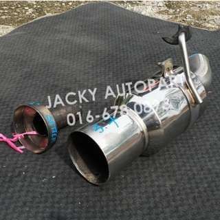 "Muffler Exhaust FGK w Silencer Kcar 2.3"" Japan"