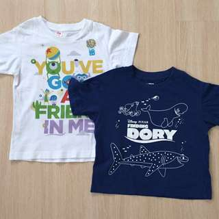Uniqlo Disney Tshirt Set
