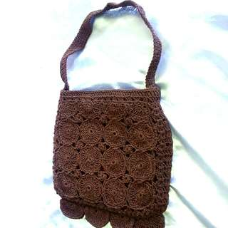 100%new brown colour little bag,top w.21cm,base w.24cm,h.24cm,