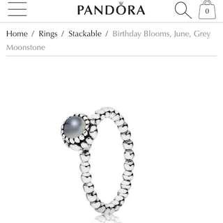 PRICE DROP Pandora June Birthstone Ring