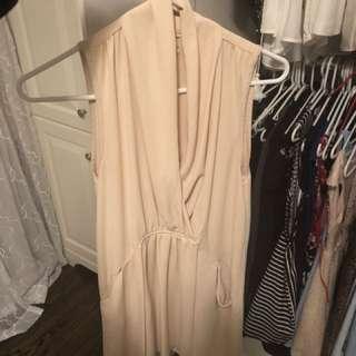 Creme Wilfrid silk dress size small