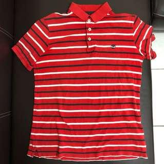 Timberland polo衫 紅色