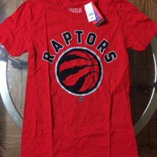 New M Red Raptors Shirt
