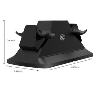 GameSir Dual Controller Charging Station Stand with Power Supply for PS4 / PS4 Slim / PS4 Pro