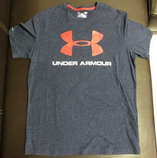 Under armour 短t 藍 L