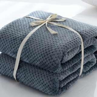 毛毯 冷氣毯 70*100 日式纯色毛毯 珊瑚绒毛毯 午休毯 珊瑚絨毯 寵物毯 嬰兒毯 休閒毯