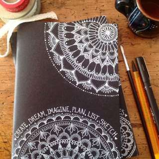 Handmade customisable Notebook covers with calligraphy and custom artwork