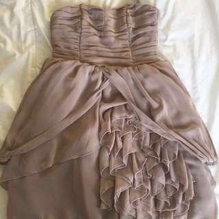 H&M Beige Ruffled Dress
