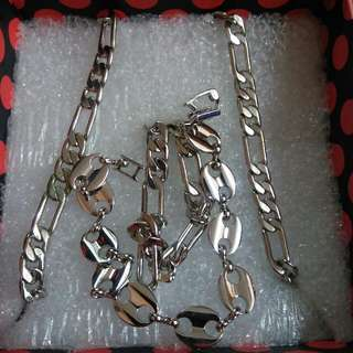 Silver/stainless Set For Guys