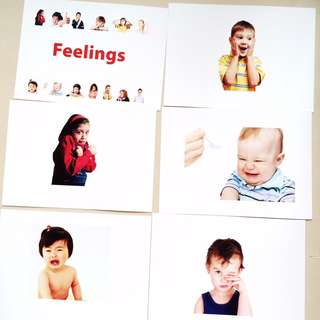 Feelings Flash cards / Shichida Heguru Right Brain Training Flashcards