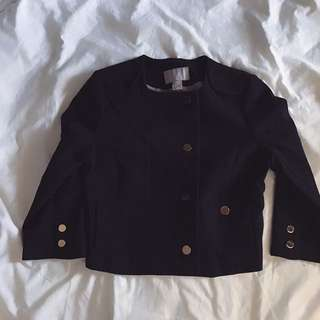 Black Crop Jacket