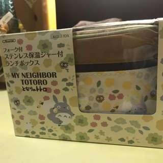 全新 龍貓保溫飯盒便當盒