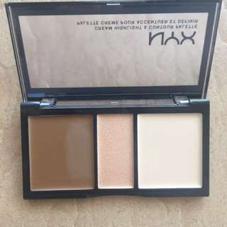 NYX cream highlight and contour palette in medium