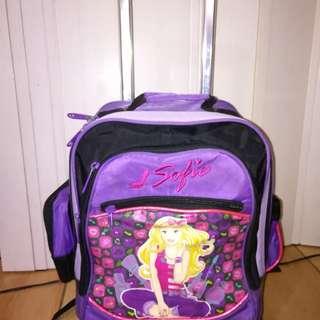 School backpack trolley bag