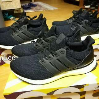 🚚  Adidas ultra boost 3.0 黑 Ba8842 Primeknit彈性鞋面+半透明支架+馬牌輪胎底 全新us9、9.5、10、10.5、11 這代鞋面彈性大,版型不會像一二代那麼緊 台北面交 其餘匯款後寄全家+60 y拍下標全家取付+80 可刷卡分期,最多24期,手續費自付 #全新不提供細圖 #要驗買回去慢慢驗如假包退 #有粉專有y拍不用怕假鞋
