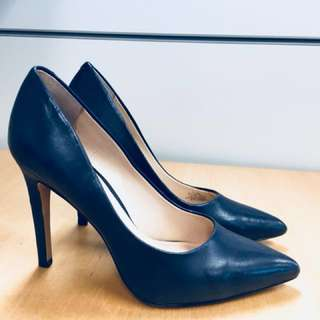 Vince Camuto Navy Blue Leather Pump