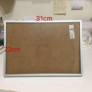 🚚 31x22cm 立式玻璃相框🖼️